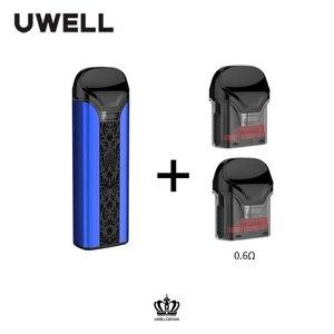 Image 2 - UWELL כתר Pod מערכת 1 חבילה 3ml קיבולת 0.6/1.0 אוהם כתר Refillable Pod דואר סיגריה אדי Pod Vape