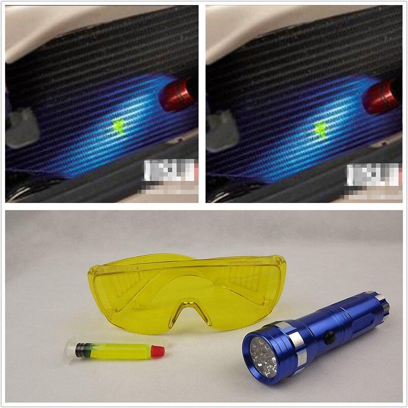 Автомобильный Кондиционер детектор утечки Авто A/C детектор утечки газа светильник комплект лампы