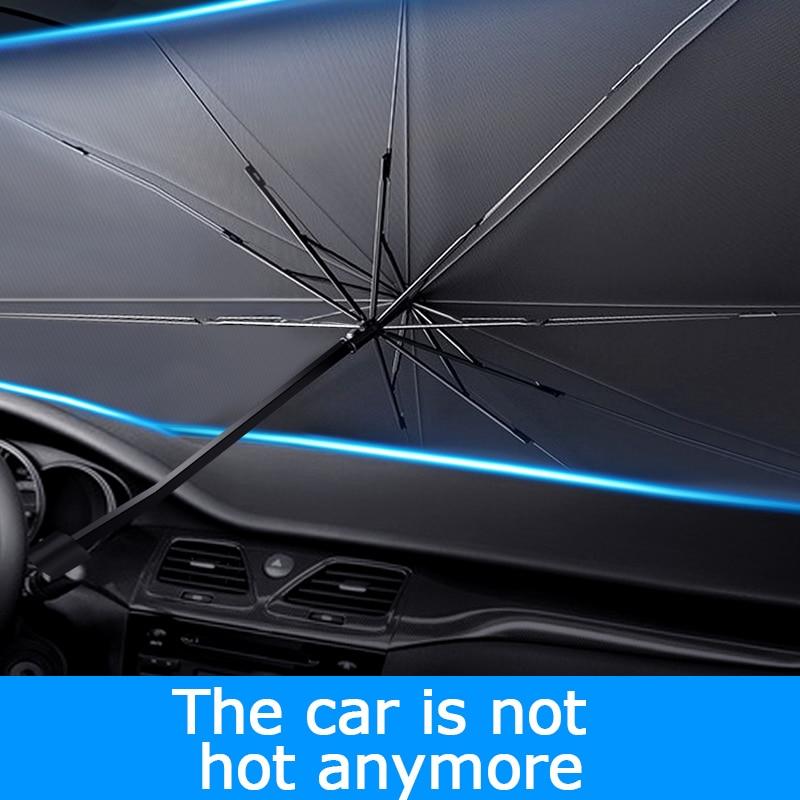 Солнцезащитный козырек для автомобиля, защитные чехлы на переднее стекло автомобиля, защита от солнца, аксессуары для защиты интерьера