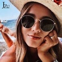 Jzu ретро круглые черные розовые Солнцезащитные очки женские