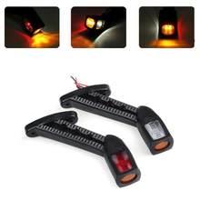 Fuleem 2 pces 3 lado 10-30v conduziu a lâmpada indicadora lateral da haste da luz de marcador para o caminhão do reboque carvan impermeável