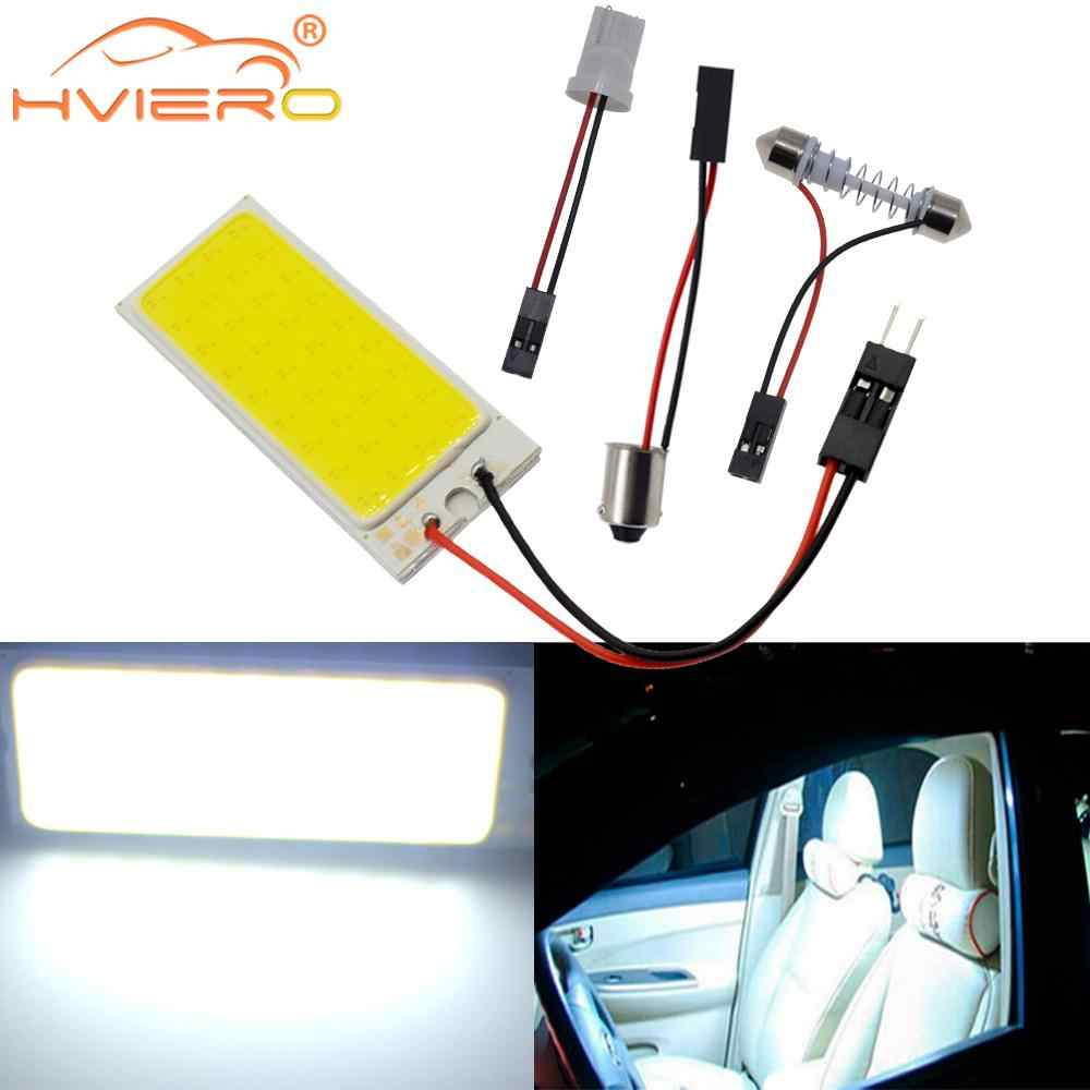 White Red T10 Cob 36Led Car Led W5w C5W C10w 194 Panel Lamps Auto Door Reading Lamp Backup Bulb Dome Festoon Light BA9S DC 12v