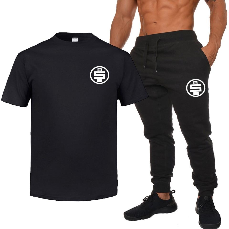 Men And Women Nipsey Hussel T-shirt Summer Short-sleeved Ku Ding Hip Hop T-shirt Sweatpants Set Casual Loose-Fit New Style
