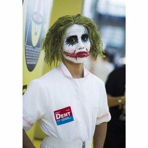 Image 5 - Movie BatMan Dark Knight Joker Nurse Cosplay Costume White Nurse Uniform Dress Men Women Halloween Fancy Dress