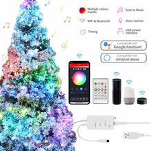 Fairy-Light-Garland Led-String-Light Party-Decor Remote-Control Bluetooth Copper-Wire