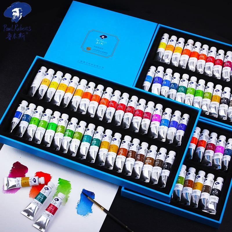 Paul Rubens 5ml 18/24/36 Colors Watercolor Paints Tube Set Water Color Paint Pigment For Beginner Drawing  Art Supplies