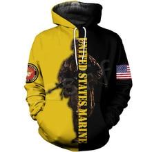 Tessffel America Marine Camo Skull Soldier Army Tracksuit NewFashion Pullover 3DPrint Unisex Zip/Hoodies/Sweatshirts/Jacket A-5