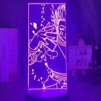 Acrílico 3d luz de noche Led que cambia de Color luz de noche para la decoración del dormitorio de los niños Anime Hunter X Hunter Hisoka lámpara regalo