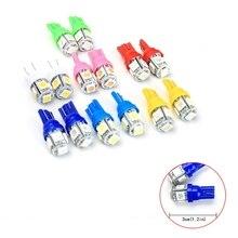 10 Pcs T10 5 SMD LED lampadina per auto W5W/147/152/158/159 indicatore di segnale per auto luci di pulizia lampadine per fanali posteriori parti di ricambio