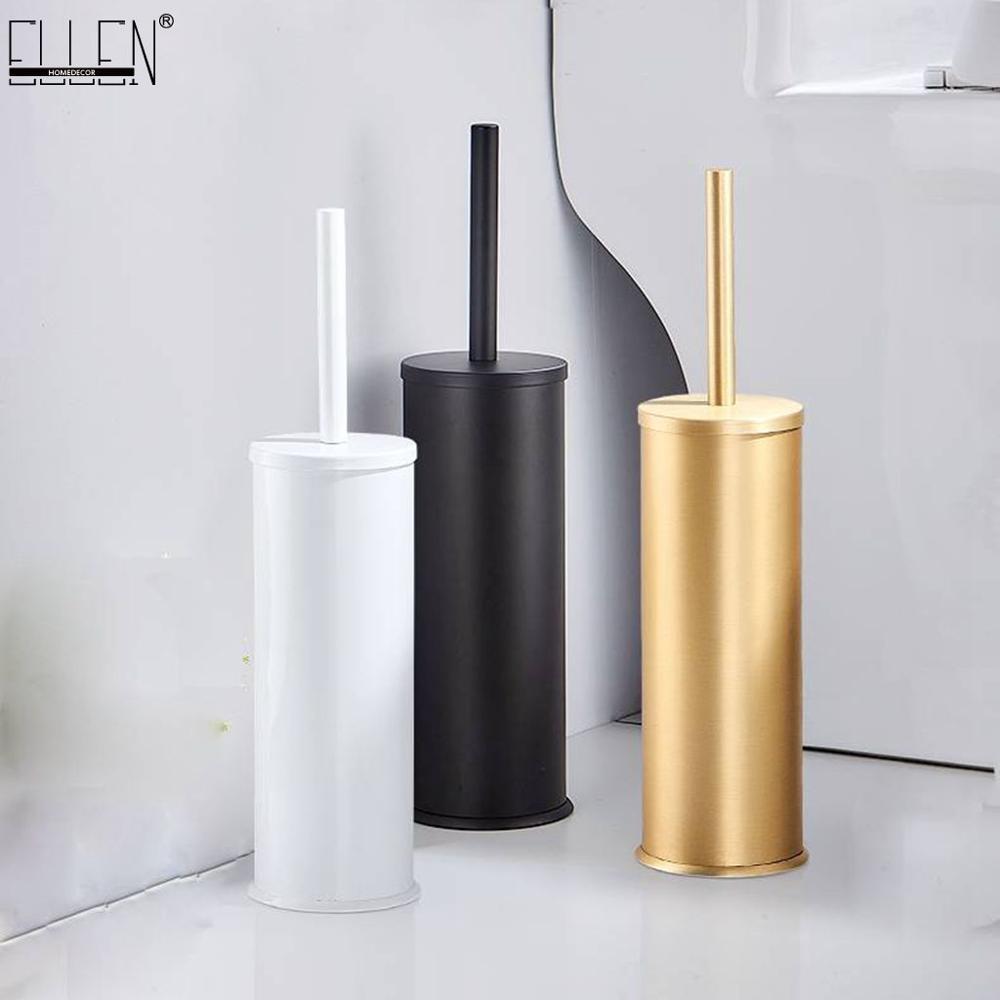ELLEN Toilet Brush Holder Bathroom Cleaning Set Flooring Stand Black Bathroom Storage And Organization ML117