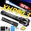 2021 Новый XHP90.3 XHP70.2 светодиодный тактический фонарь Водонепроницаемый фонарь увеличивающий охотничий кемпинг лампы 26650 Перезаряжаемые мощн...