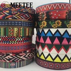 5M 38mm épaisseur 1.1mm 50mm épaisseur 1.6mm ruban coloré ethnique Jacquard Polyester sangle ceinture décor dentelle garnitures bricolage sacs sangle bande