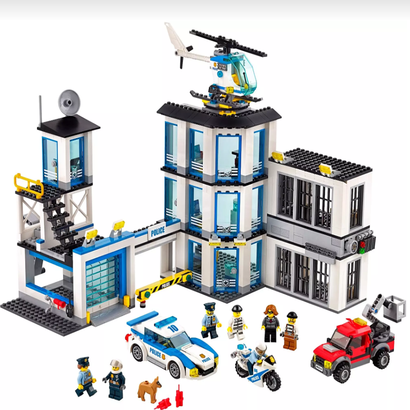 New 02020 965Pcs City Series Compatible With Logoing 60141 Police Station Set Building Blocks Bricks Toys For Children Gifts