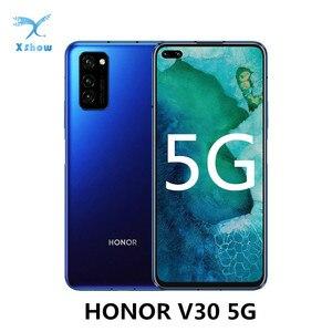 "Image 1 - Honor V30 5G Smartphone 6GB RAM 128GB ROM 6.57"" SuperCharge 4200mAh NFC Kirin 990 Octa Core 40MP Triple Rear Camera Cellphones"