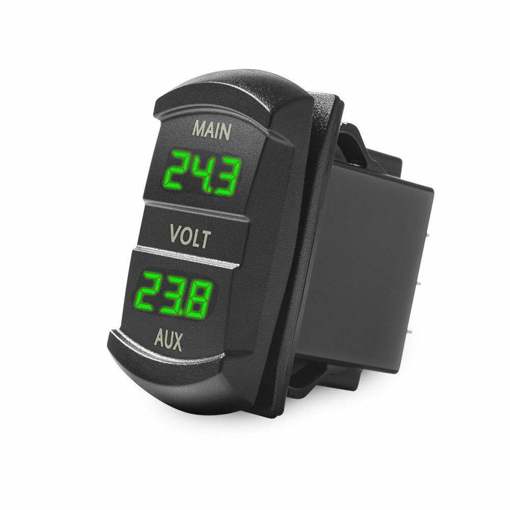 5-60 в двойной Вольтметр цифровой батарейный монитор гнездо для аккумулятора пикап автомобильные Переключатели Реле вольтметр монитор пане...