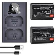 2 batteries de caméra NP-W235 de 2280mAh + LCD USB, double chargeur avec Port de Type C pour Fujifilm Fuji GFX 100S