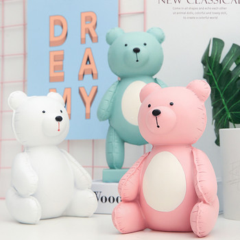 Nordic European Style Jason Freeny Balloon Bear Resin Statue Creative Children Bedroom Figurines Decoration Accessories X3418