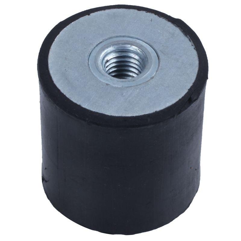 6Pcs M5 Air Compressor Rubber Vibration Mount Isolator 15mm x 15mm