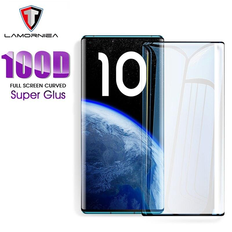 Lamorniea 100D Screen Protector For Xiaomi 10 Pro Mi 10 Full Glue Tempered Glass For Xiaomi Mi Note 10 CC9 Pro Protective Glass