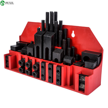 High quality metal fastening milling machine mill in September clamp M12 58 Units Kit vice Holding Tool metex milling machine clamping set m12 58pce mill clamp kit vice