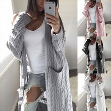 Plus size cardigan women tops Solid Hooded ladies sweaters Autumn Winter Warm Long Coat