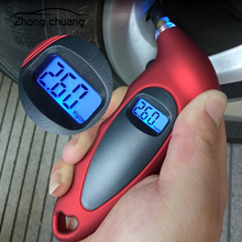 Car tire pressure gauge 0-150 PSI backlight high precision digital monitoring car manometer