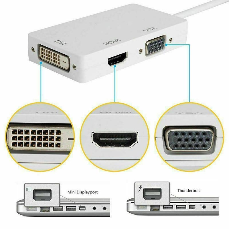 Высококачественный кабель адаптера порта дисплея Thunderbolt Mini DP к HDMI VGA DVI для MacBook Pro Mac Air