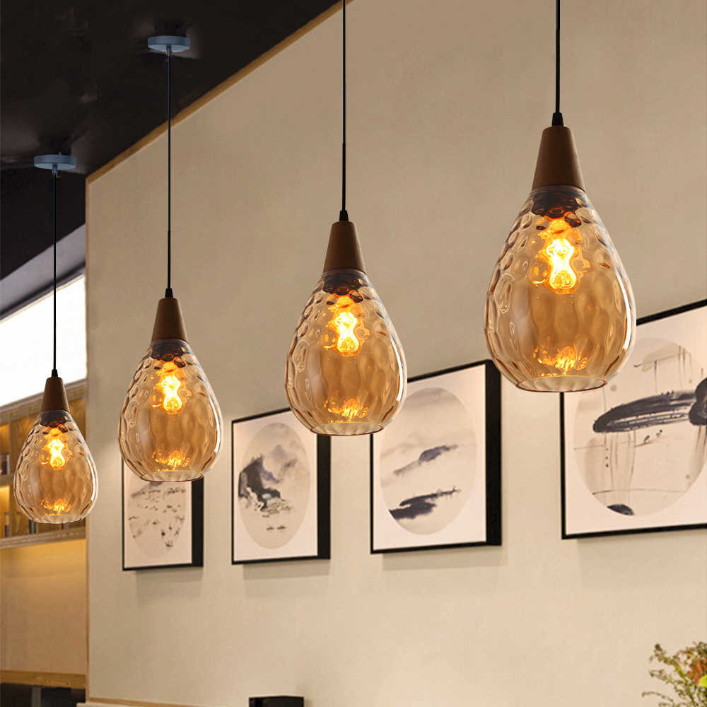Artpad Nordic Glas Anhänger Licht Für Wohnzimmer Wasser Tropfen Form E27 Esszimmer Bar Schlafzimmer Anhänger Lampe Hängen Leuchten