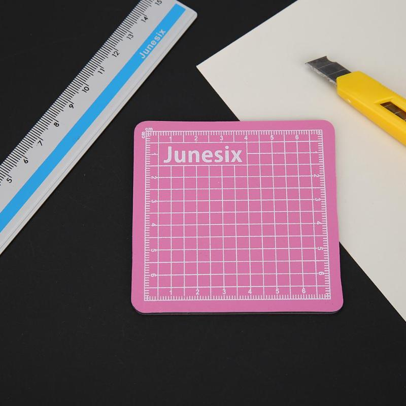 Sewing Cutting Mats Measuring Grid PVC Double-sided Design Engraving Cutting Board Mat Protect Blades Non-slip Drawing Pad Pink