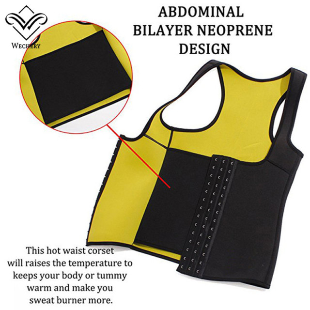 Wechery Slimming Body Shaper Tops Tummy Control Belt Women Modeling Strap Sweat Sport Clothes Neoprene Shapewear Flat Belly 3