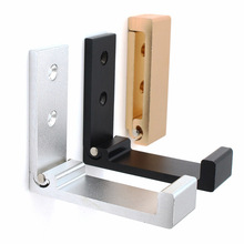 Fashion Simple folding hook alloy wall Hangers Mobile phone bracket home Decorative Key curtains Clothes Coat Multi Storage rack
