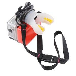 Image 5 - Câmera de ação surf boca montagem para gopro hero 9 8 7 5 6 4 preto prata sessão xiaomi 4k sjcam sj8 7 h9 go pro surf acessório