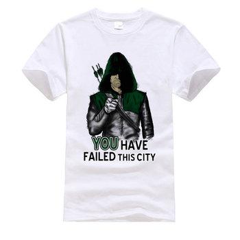 Green Arrow superbohatera fajna koszulka nie udało ci się to miasto moda rozrywka wielka T Shirt drukowanie europa topy koszulki dla mężczyzn tanie i dobre opinie CINESSD Krótki CN (pochodzenie) CREW NECK tops Tees Normal Short Sleeve Suknem COTTON Poliester Włókno bambusowe Poliamid