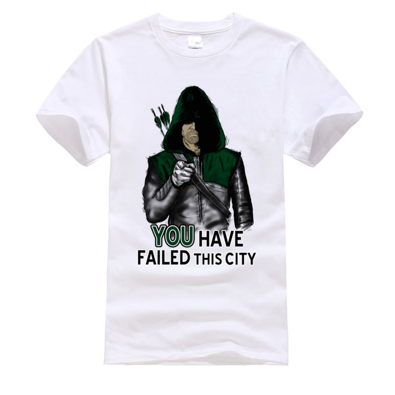 Green Arrow Superhero Cool Tshirt You Have Failed This City Fashion Leisure Great T Shirt Printing Europe Tops Tees For Men