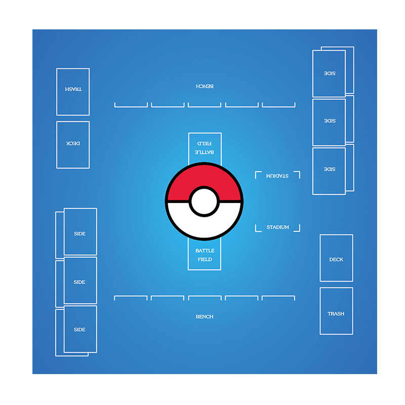 Pokemon TCG New Player Play Mat Playmat NEW Helps Learn to Play