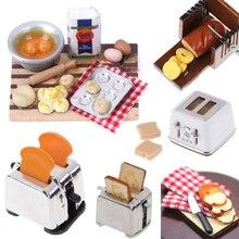 Милый миниатюрный Хлеборезка тостер с 2 шт хлеб 1/12 еда для куклы ролевые игры дети Кухня Мини Кукольный дом игрушки аксессуары