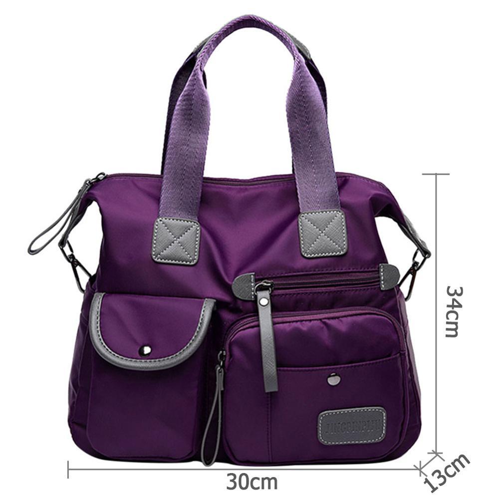 Multiuse Women Waterproof Handbag Nylon Tote Travel Messenger Crossbody Bags For Women Bolsa Feminina Top-Handle Shoulder Bag