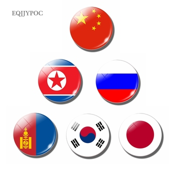 National flag 30 MM Fridge Magnet East and North Asia People's Republic of China Japan North Korea South Korea Mongolia Russia image
