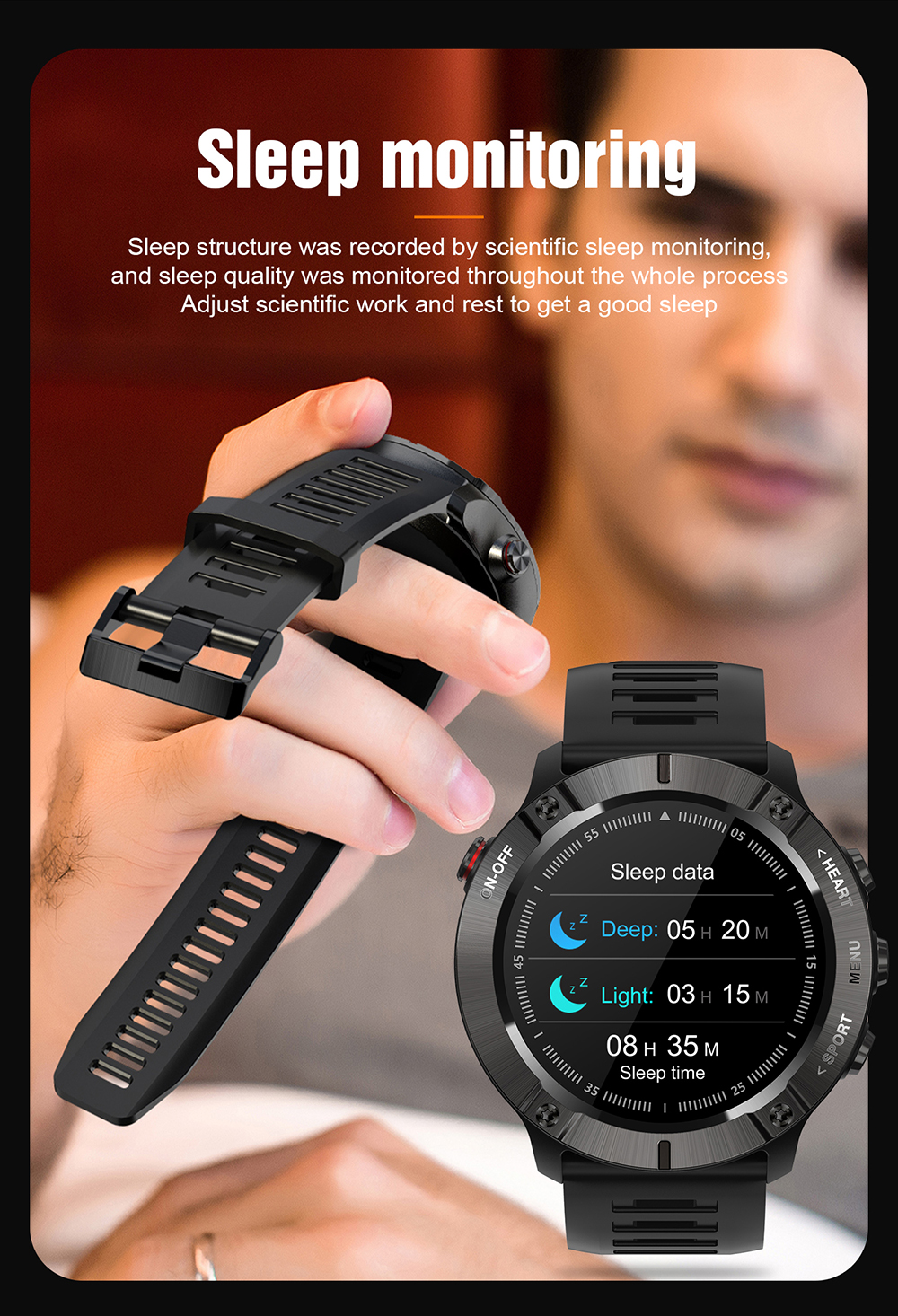Mc01 relógio inteligente freqüência cardíaca pressão arterial