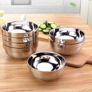 1PC Eco-Friendly Breaking-Proof Easy To Wash Stainless Steel Rice Bowl Heat Insulation And Anti Scald Bowl for Children