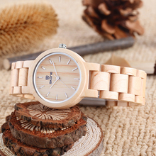 SKONE Brand Sandalwood Wooden Watches Women Brand Design Japan Movement Quartz B