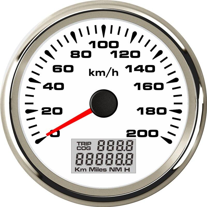 Image 4 - 85mm Digital GPS Speedometer Gauge 120km/h 200km/h Waterproof  Speed Gauges 7 Colors Backlight 12V 24V gps snelheidsmeterSpeedometers