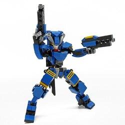 333 pçs designer mecha guerreiro blocos de construção brinquedos para crianças robôs armadura anime figura modelo 17cm ação figura bloco bonecas