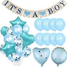 Décorations de fête prénatale pour bricolage et fille, ballons it's A Boy, fournitures de cadeaux d'anniversaire pour enfants, révélation du sexe