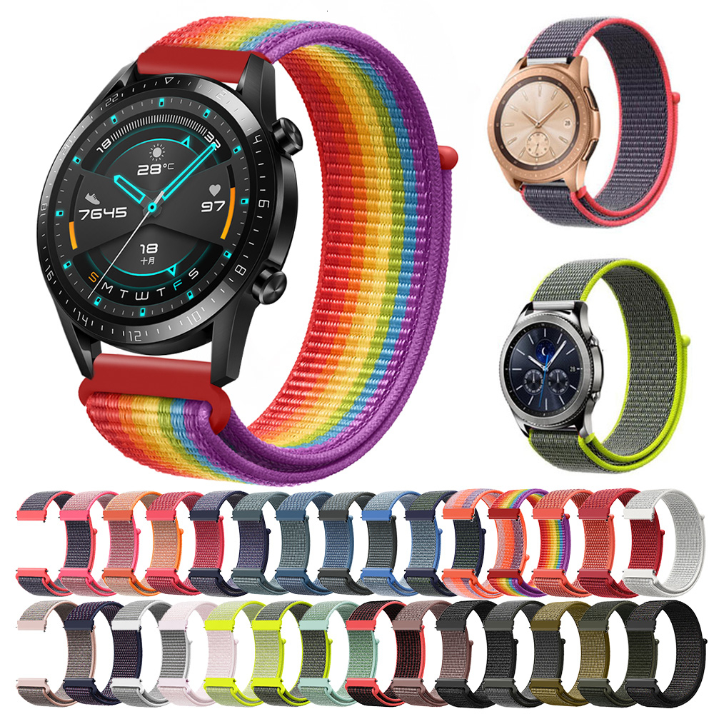 nylon band 20mm 22mm for Samsung Galaxy Watch 42mm 46mm Active Gear S3 Classic and Frontier strap <font><b>Amazfit</b></font> Bip HUAWEI WATCH 2 Pro image