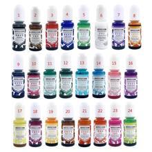24 Kleur Epoxy Uv Hars Gem Pigment Vloeibare Hars Dye Diy Hars Art Jewely Maken Nieuwe 2020