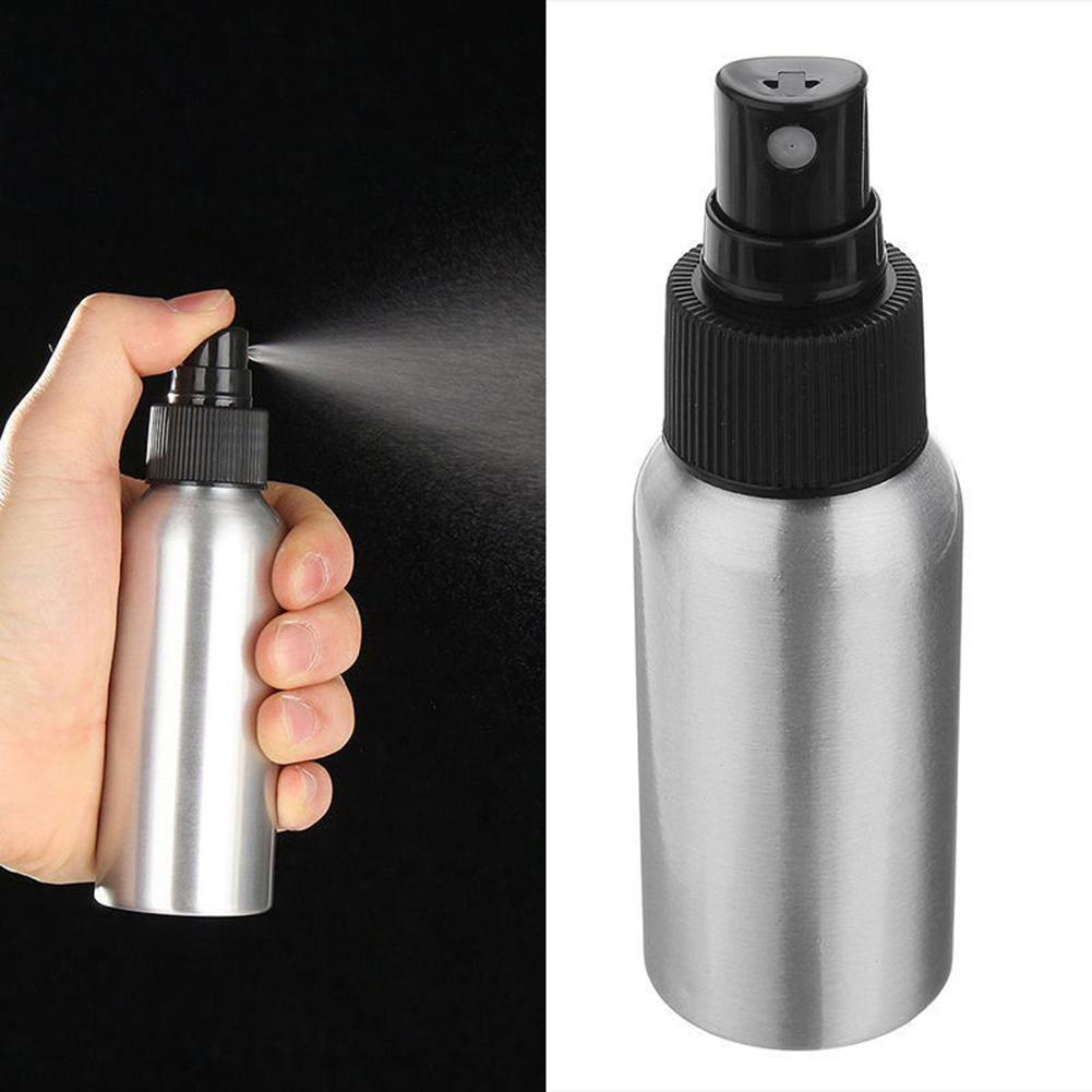 100ml/50ml Mini Aluminum Cosmetic Emulsion Perfume Atomizer Empty Spray Bottle Silicone Empty Travel Refillable Bottle 2020