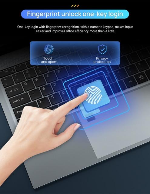 15.6 Inch 10th Gen Intel Core i5-1035G4  Laptop 16GB RAM 512GB SSD Windows 10 Backlit Keyboad Type-C Fingerprint Unlock Computer 5