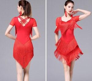 Image 3 - Женское платье с кисточками для латинских танцев, модное платье для латинских танцев для женщин, женское международное стандартное бальное платье для танцев ча Сальса
