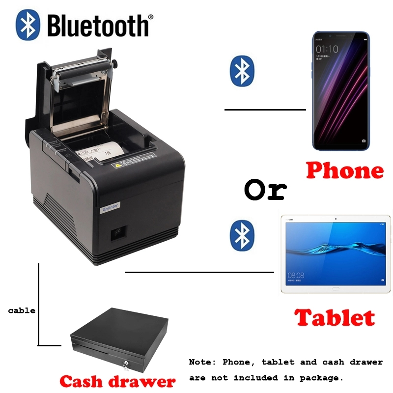80mm Auto Cutter USB bluetooth Thermal Receipt Printer Pos Printer For Hotel Kitchen Restaurant Retail For Android devoice iOS in Printers from Computer Office